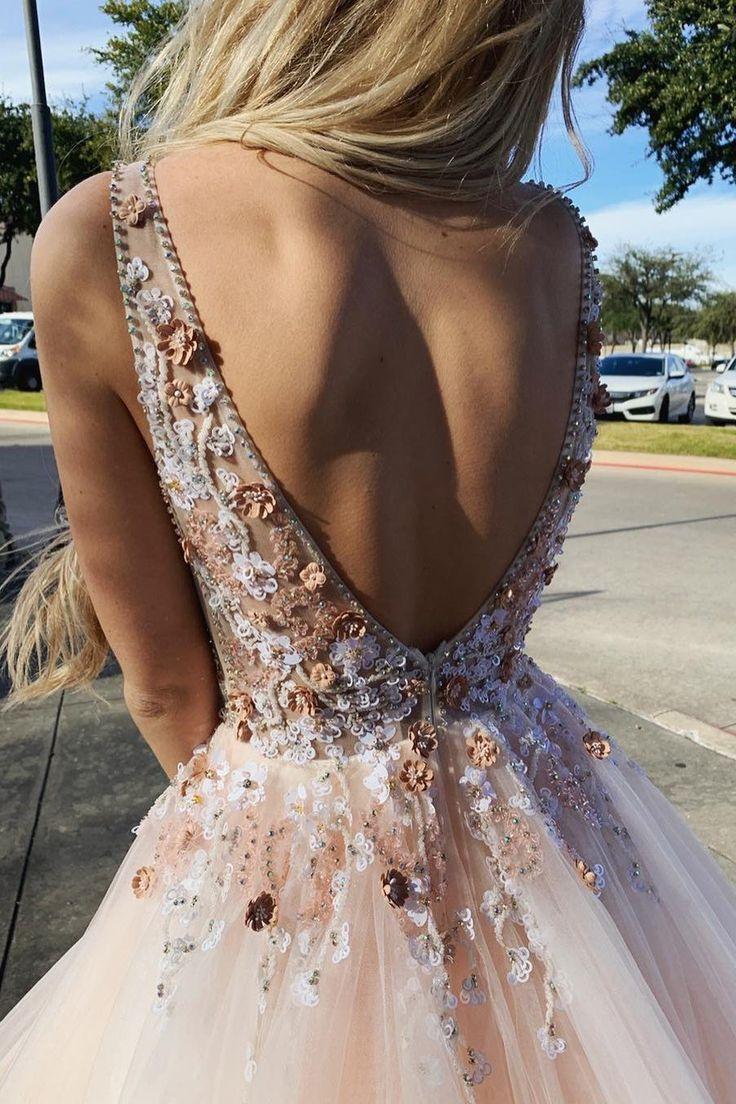 Prinzessin rosa Ballkleid Ballkleider, Mode rückenfreie