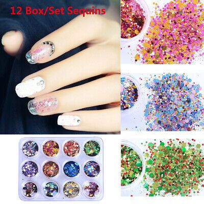 Flakes Nail Art Decoration Nail Sequins Holographic Laser Face Body Makeup