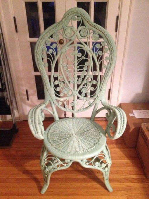 Heywood Wakefield Wicker Chair for sale $75 | Covet Living