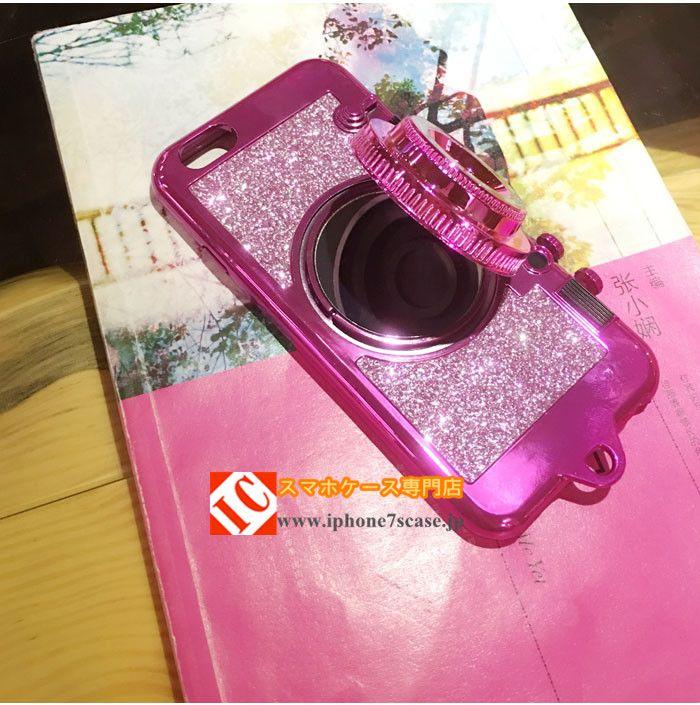 面白いカメラ型iphone8/7s/6sケース個性的キラキラ アイフォン7/6splus