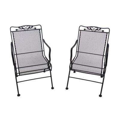 Glenbrook Chocolate Brown Patio Action Chair (2-Pack)