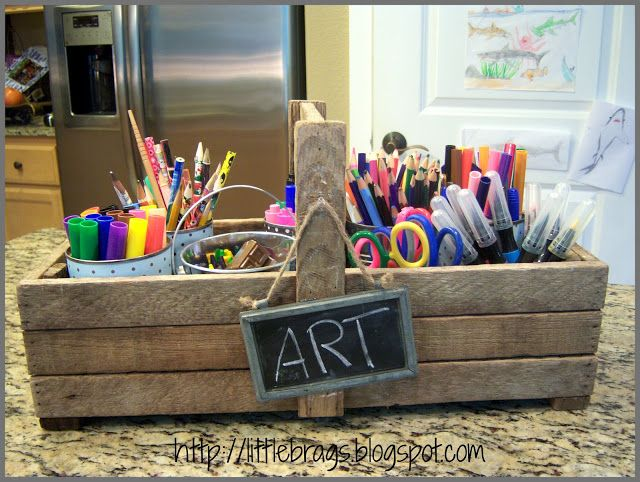 Little Brags: Old Toolbox to Art Caddy