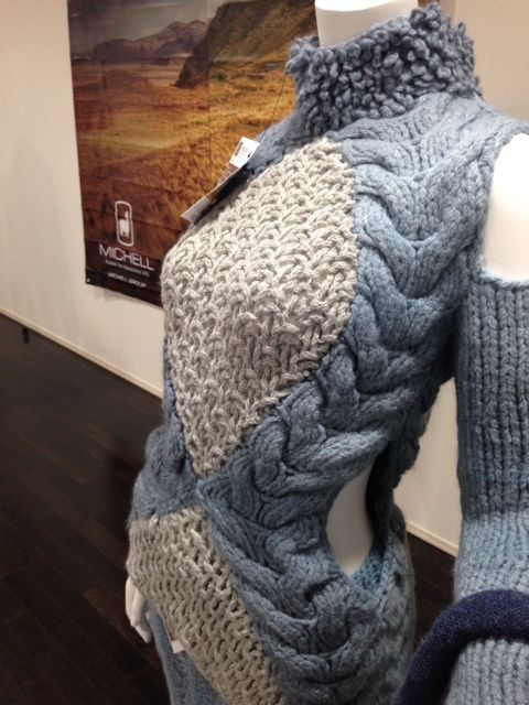 Tokyo Exhibition event - Michell Yarn Collection A/W 14-15 for weaving, machine knitting and hand knitting