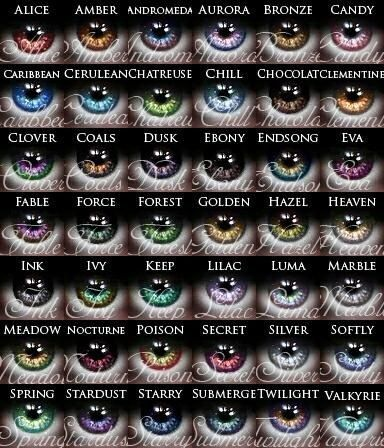 Different eye colors...if you wanted characters to have wild, unrealistic eye colors.... *shrugs*:
