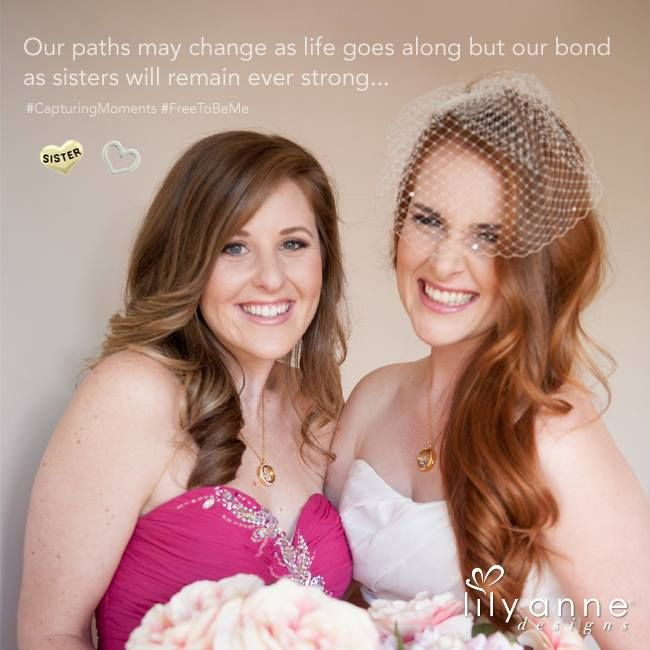 {Our paths may change as life goes along but our bond as sisters will remain strong}    Thumbs up for sister love!   #LilyAnneDesigns #PersonalisedLockets #CapturingMoments #FreeToBeMe