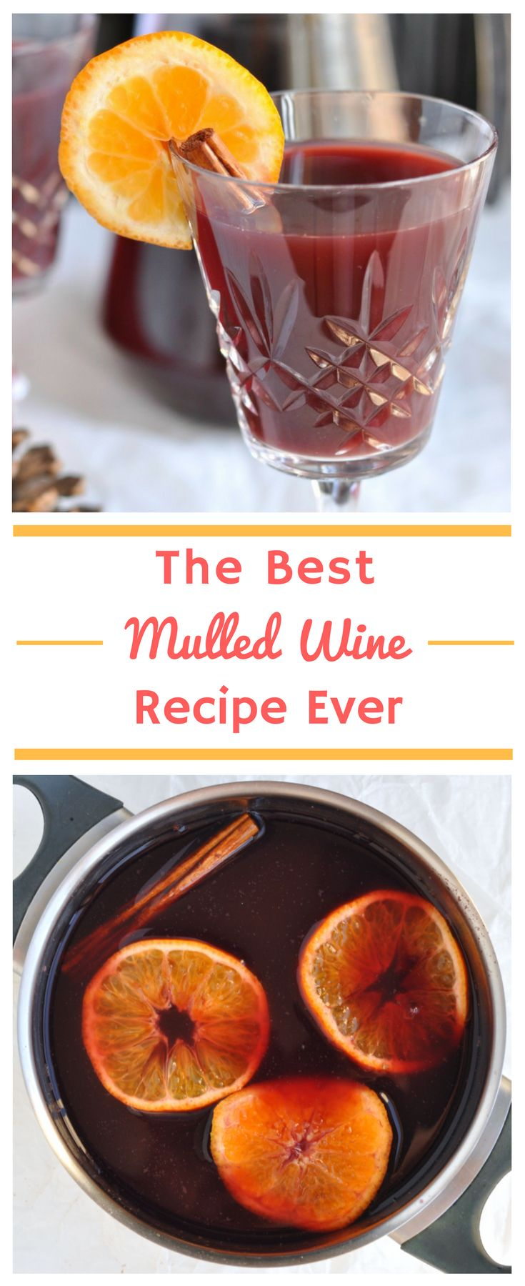The Best Mulled Wine Recipe Ever | Click to learn my secret to making this simple mulled wine recipe taste amazing. Everyone will want to know how you make it! #Wine #MulledWine #Christmas #MerryChristmas #Drinks #Cocktails #ChristmasDrinks #ChristmasCocktails #ChristmasRecipes #Recipes #Recipe #MulledWineRecipe via @happyhealthymotivated