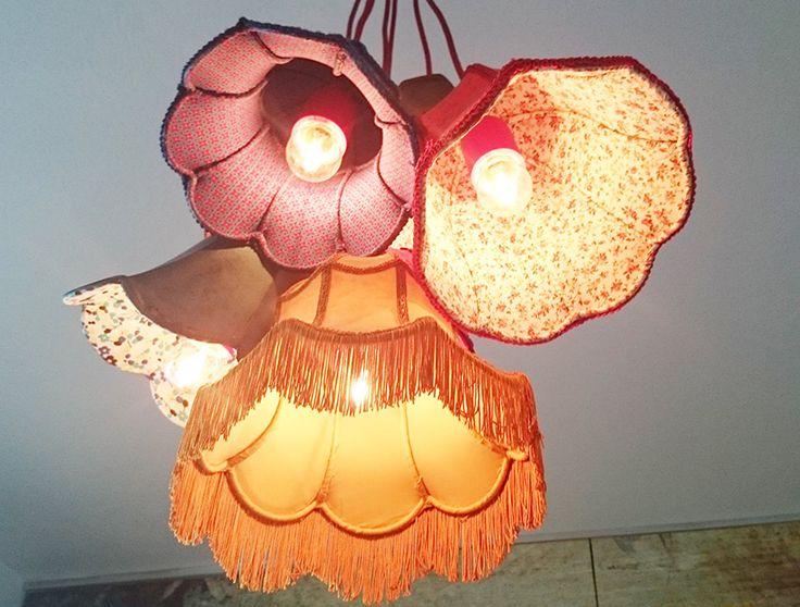 Gamla lampskärmar blir mysig taklampa | Fixat