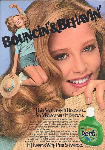 "1980's Pert Shampoo. This shampoo is why I still say ""bouncin' and behavin' "" when I curl my hair :-)"