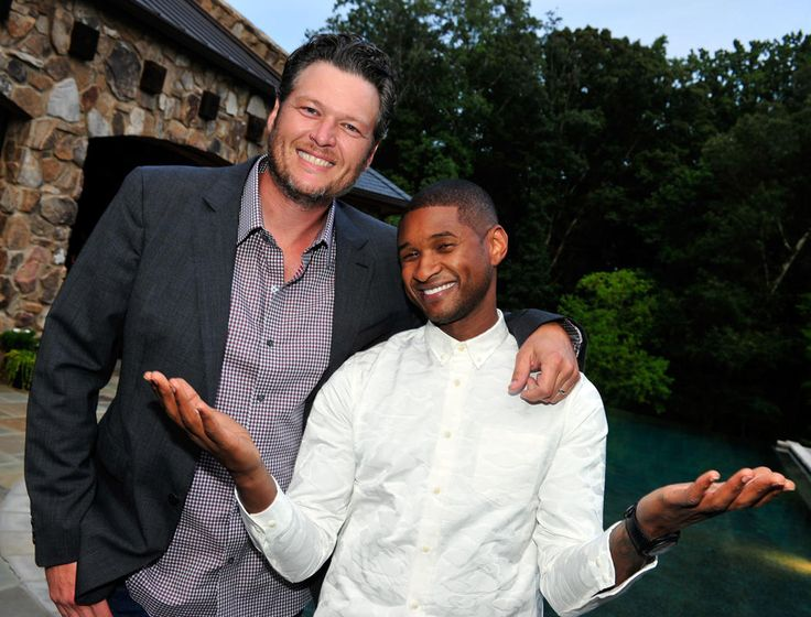 Blake Shelton and Usher