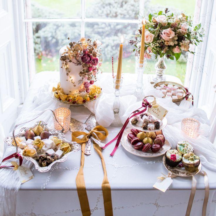 Purton House. #caketable #vintagecakestands #cakestands #weddingideas #vintagewedding #macaron #goldwedding #vintageflairhire #goldwedding #luxurywedding #sweettable #baroque