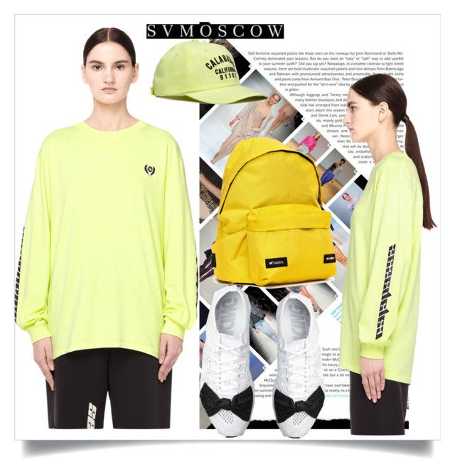"""""""SVMOSCOW"""" by sabine-rose ❤ liked on Polyvore featuring Yeezy by Kanye West, Eastpak and Comme des Garçons"""