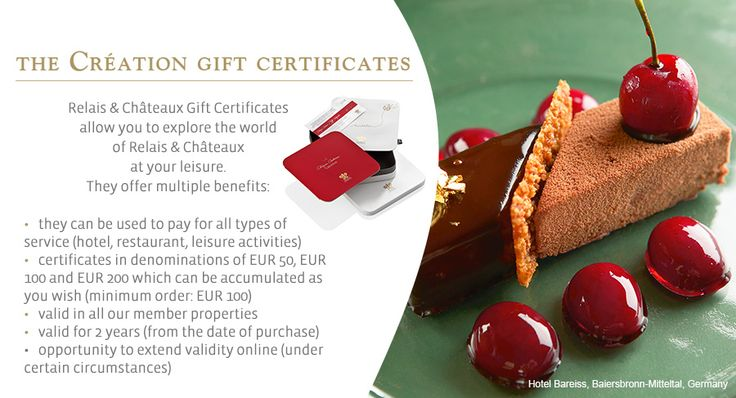Accepted in all member properties of Relais & Châteaux throughout the world, the Gift Certificates allow you to easily discover the universe of Relais & Châteaux.  #relaischateaux #gift #certificate #giftcertificate