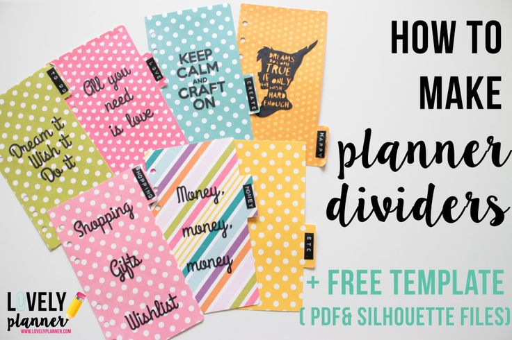 Best 20 planner dividers ideas on pinterest dividers for Make a planner free