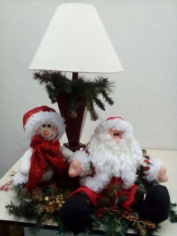 Lámpara navideña de muñecos navideños blanca nieve