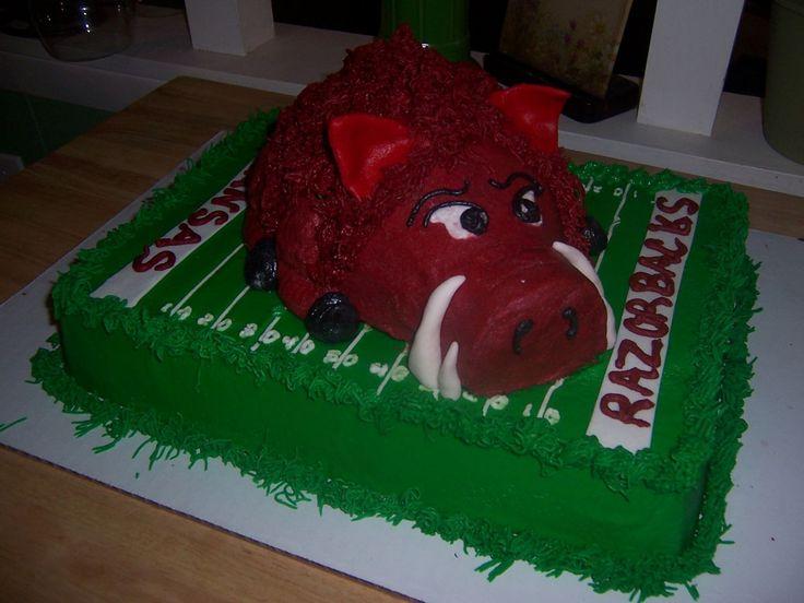 razorback cakes | Arkansas Razorback cake
