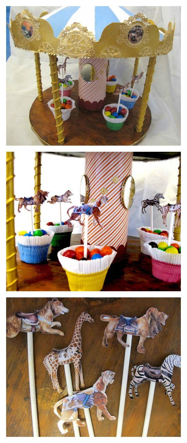 Anniversaire enfant thème fête foraine & carrousel de bonbons