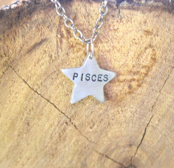 Pisces-Star Sign Star Astrology Necklace by crobinsondesign