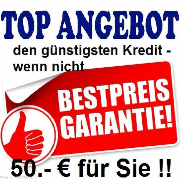 Kredit, Kredite, Sofortkredit, Eilkredit  vom besten Berliner Kreditmarktplatz. 4 Wochen Rücktritts auch wenn Kredit schon ausgezahlt sein sollte und oben drauf 50 Euro, wenn ein besseres Angebot vorliegt!!