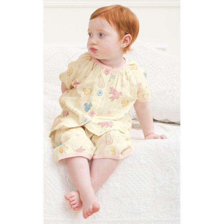 半袖ガーゼパジャマ: ベビーアイテム|ベビー服・ベビー布団・出産準備はコンビミニの通販