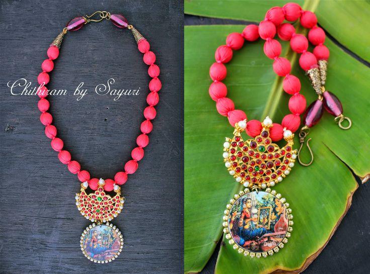 kemp necklace with radha krishna