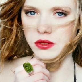 Ecological grass jewelry ring