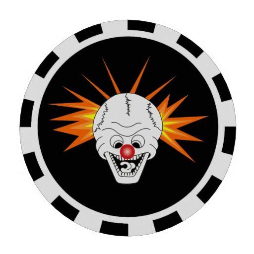 Smiling Skull - ceramic chip for poker
