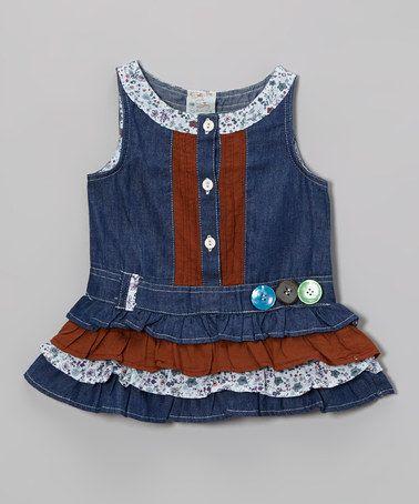 Blue Denim Button Dress - Infant, Toddler & Girls by the Silly Sissy #zulily #zulilyfinds