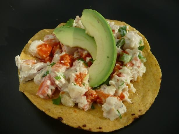 "Chicken Salad Tostadas *Similar to one we used to get at the ""La Fogata""."