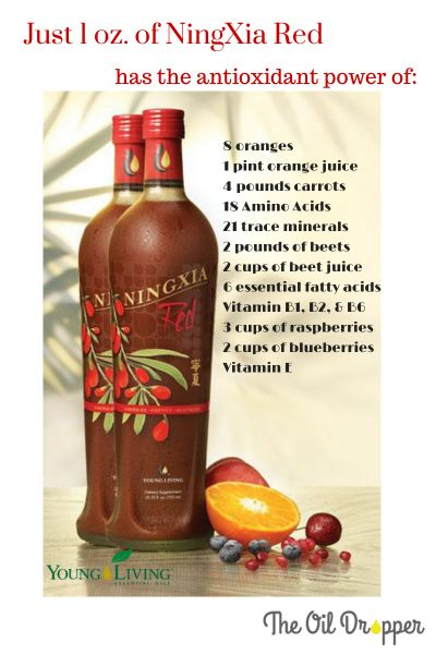 NingXia Red Say what? (Neen-shah Red) is how this yummy antioxidant-filled drink is pronounced. Young Living really knew what they were doing when they put this healthy supplement together. The NingXia Wolfberry is a powerful antioxidant drink .We are… Read more ›
