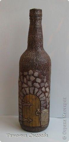 Декор предметов Лепка Папье-маше Винный погреб Бумага газетная Бутылки стеклянные Глина фото 1
