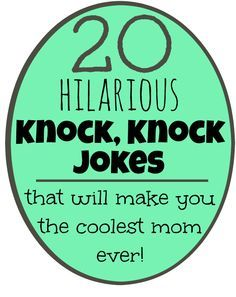 These funny knock knock jokes for kids will have you and your kids laughing. They are printable making them perfect for lunch box jokes!