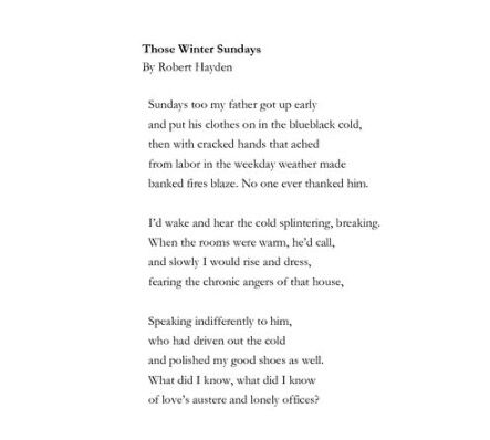 a comparison of advice to my son by peter meinke and those winter sundays by robert hayden 12 imagery those winter sundays robert hayden 26 juxtaposition advice to my son peter meinke poet laureate billy collins website with a poem a day.