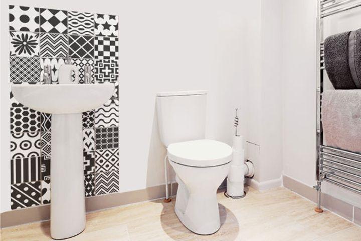 78 best banheiros bathrooms images on pinterest - Como pintar azulejos ...