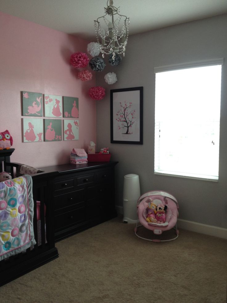 pink baby furniture. pink and gray nursery white furniture instead of black baby s
