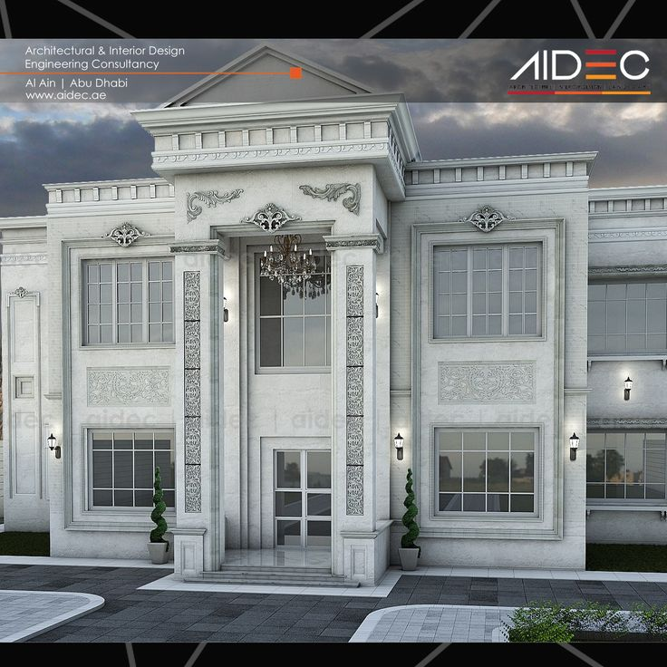 Proposed Classic Residential Villa Location: Abu Dhabi . . . . . #aidec #residentialvilla #villa #uae #alain #abudhabi #architecture #art #design #classic #residential