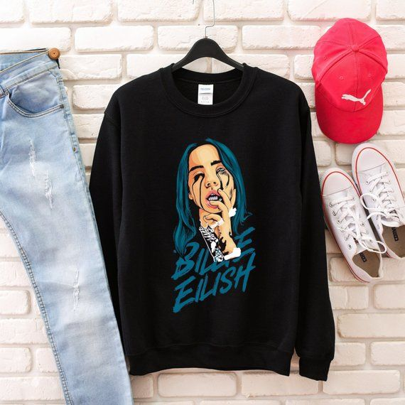 41ca82af1d696 Billie Eilish Sweatshirt | Products in 2019 | Billie eilish, Sweatshirts, Fashion  outfits