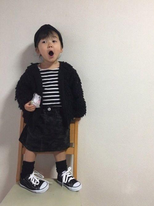 グローバルワークのセールゲット品のスカート♡ セールで買ったのもこのスカートで最後😊 春物まで着回