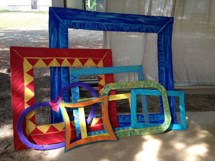 photo booth props frames cut out of cardboard and then. Black Bedroom Furniture Sets. Home Design Ideas