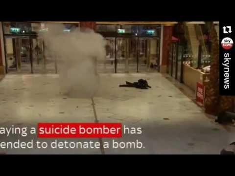 Simulated #AllahuAkbar #terrorattack #Manchester shopping centre  #mediabodyguard #police