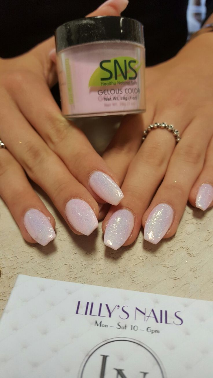Powder pink nails pictures photos and images for facebook tumblr - Sns Nails