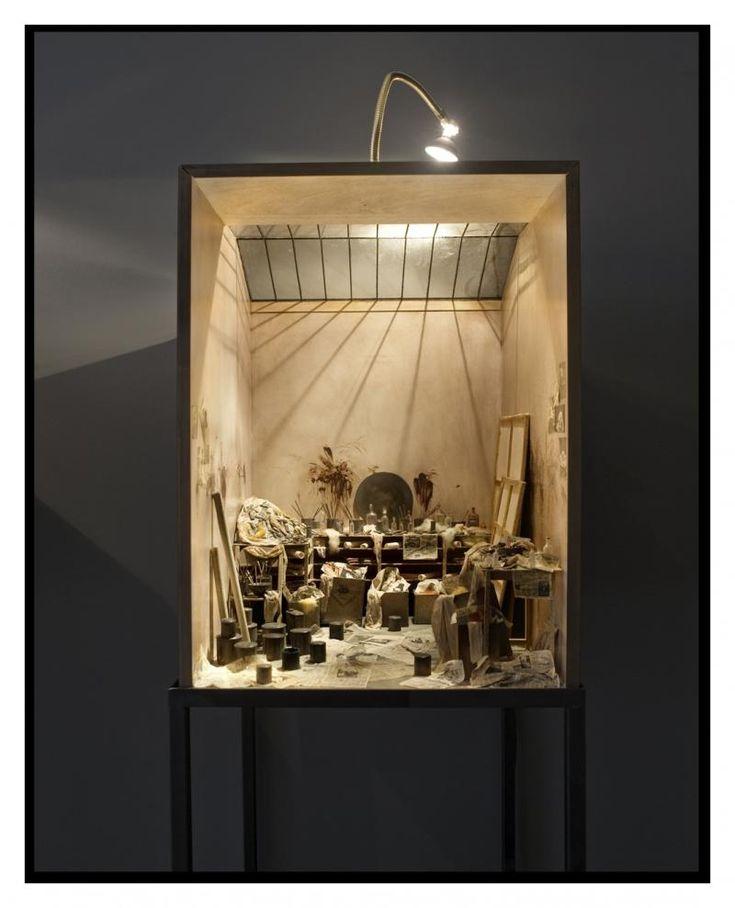 Charles Matton . Francis Bacon's studio