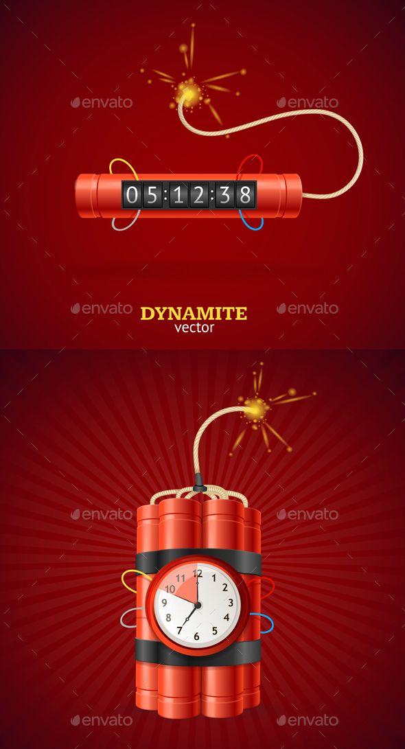 Detonate Dynamite Bomb and Timer Clock.