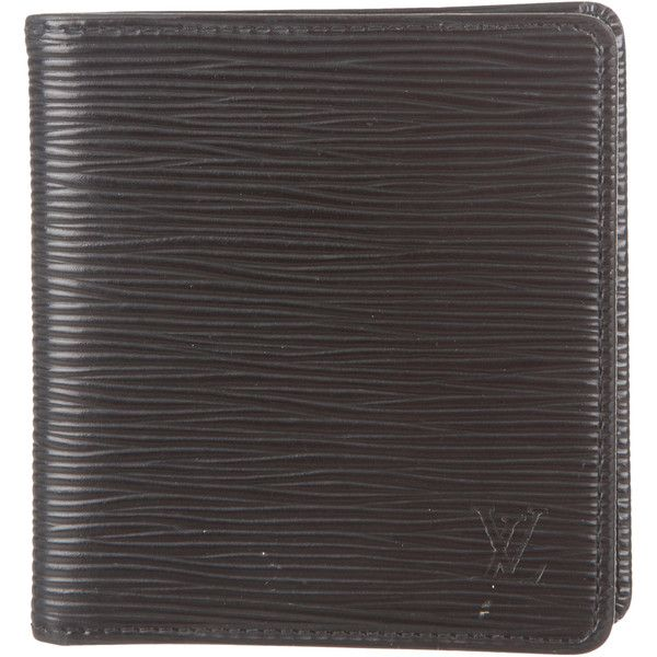 Louis Vuitton Epi Bifold Wallet (4.944.375 IDR) ❤ liked on Polyvore featuring men's fashion, men's bags, men's wallets, black, mens wallets, mens leather wallet, bi fold mens wallet, mens bifold wallet and louis vuitton mens wallet