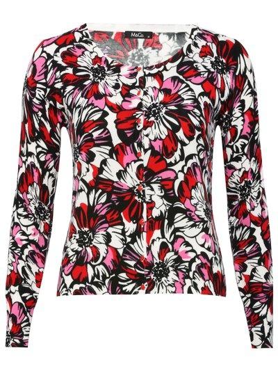 Graphic floral cardigan  £32.00