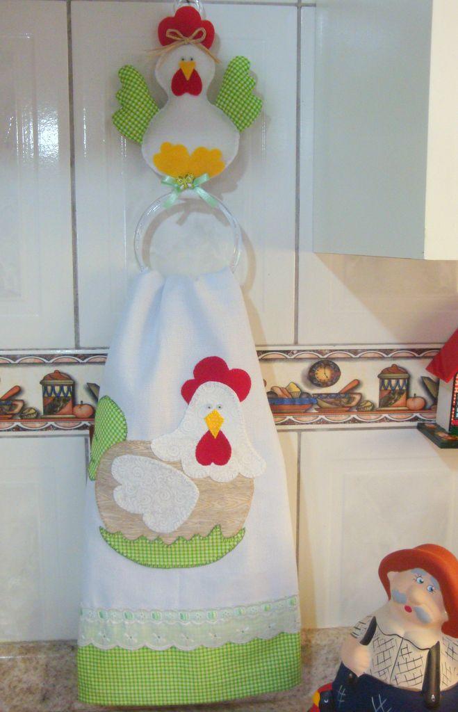Porta toalla de gallina