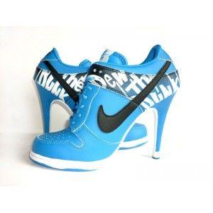 new styles 38edd 50a05 ... Nike Dunk High Heels Womens Dead End Black Blue White 309235 Dunk Nike  Dunk High Heels ...