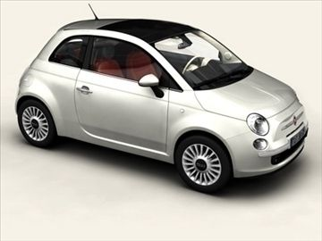 Fiat 500 2008 3D Model- Accurate very high definition Fiat 500 model with detailed interior fully textured. The model includes textured and modeled tires. Previews rendered in XSI.Max Format:Meshsmooth is applied so you can set the object resolution as you like. Just use the Named Selection Set meshsmooth to select the SubD objects. Obj Format:In 3 different resolutions ranging from 132800 to 970033 Polygons. Interior and exterior are saved separately so you can render the car also without…