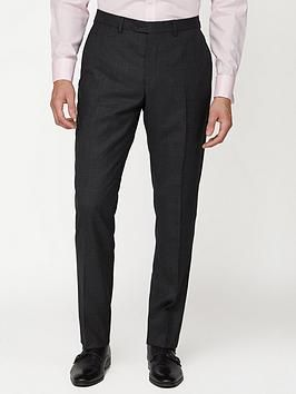 Jeff Banks Soho Suit Trousers – Charcoal, Charcoal, Size 32, Length Regular, Men – Charcoal – 32, Length Regular