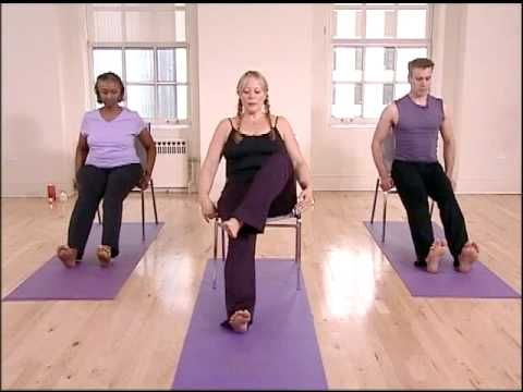 stronger seniors chair yoga hips  legs sequence  yoga