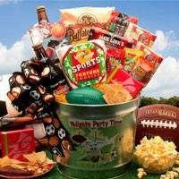 Tailgate Party Time Football Gift Pail